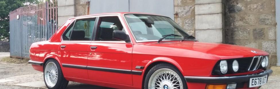 James Palmer's 1987 BMW 518i (E28)