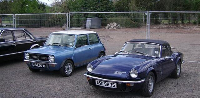 John Ohldag's 1979 Mini 1275GT and VW Golf GTi convertible