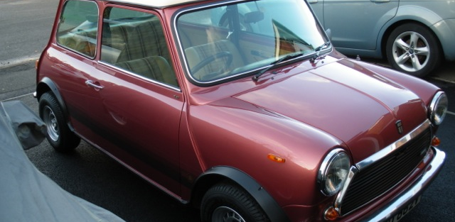 Ally Cruickshank's  MG Roadster and 1979 Mini Special 1100