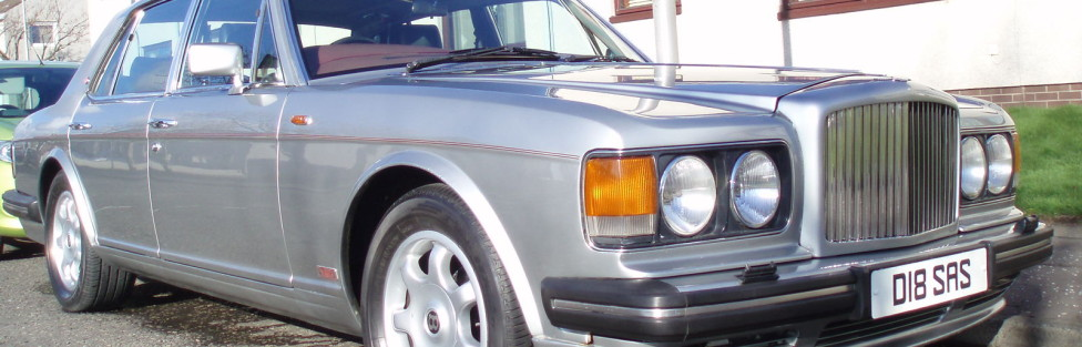 Steve Smith's Bentley 1989 turbo R  approx. 5600 made approx 1300 still on the road. The turbo is over bored to obtain 335 hp and a 0-60 in 6.7 seconds