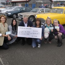 Tayside Classic Cars Club,charity cheque presentations
