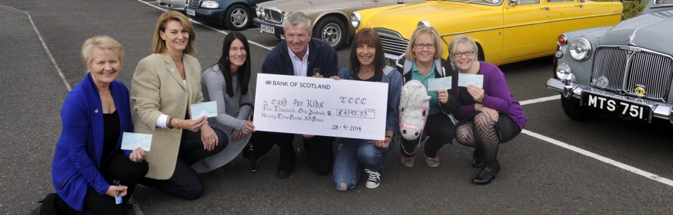 TAYSIDE CLASSIC CAR CLUB  GIVES BACK TO THE COMMUNITY