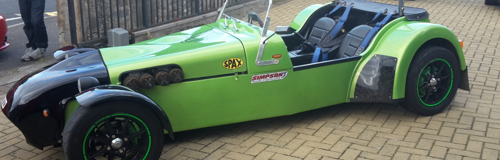 Young Davie McGill's  latest toy (Tiger Kit Car and his1987 Skoda Estelle  slightly modified