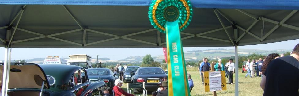 Ladybank Show. Again Tayside Classic Car Club win best club stand