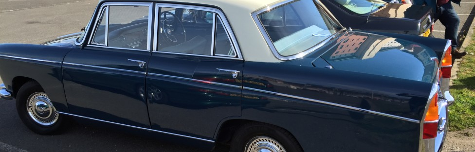 TCCC welcomes new member Ron Bruce with his 1967 Morris Oxford Automatic
