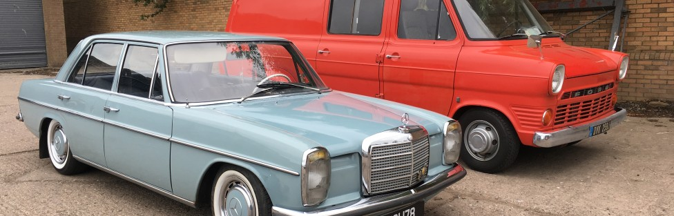 Sean Mitchell from Dundee with his 1971 Mercedes and Mk 1 Ford Transit