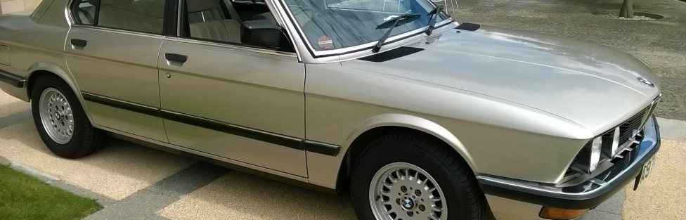 TCCC welcomes new member Tony King with his1984 BMW