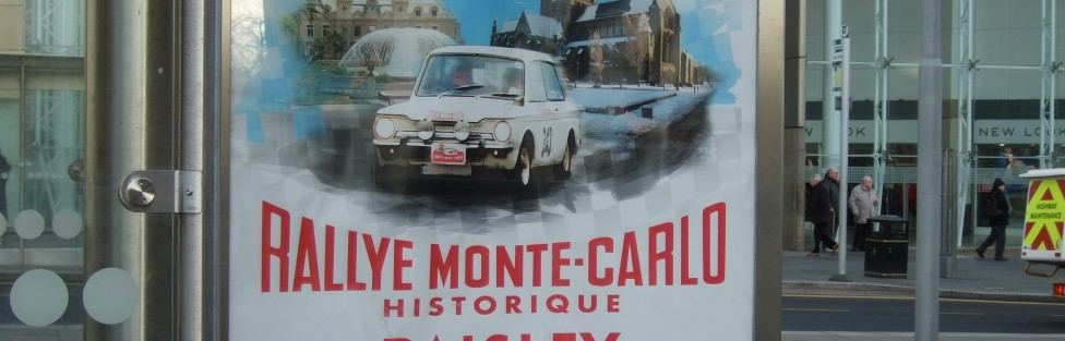 Mary and Jim went down to Paisley and visited the venue for the start of the Monte-Carlo Classique & Historique.