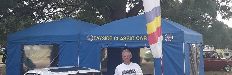 Dave Beats with his 1978 Ford Escort RS 2000 which won the prize for the Best 40 year old Car at the Glamis Extravaganza on Sunday.